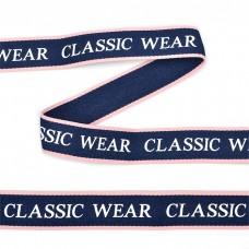 Тесьма-стропа TBY декоративная Classic wear TPP03207 шир.20мм цв. т.синий уп.45,7м