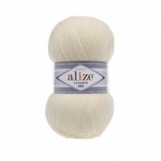 Пряжа для вязания Ализе LanaGold 800 (49% шерсть, 51% акрил) 5х100г/800м цв.001 кремовый