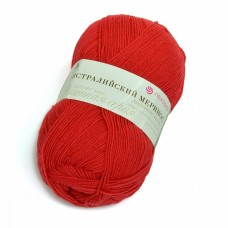 Пряжа для вязания ПЕХ Австралийский меринос (95% мериносовая шерсть, 5% акрил высокообъемный) 5х100г/400м цв.058 коралл