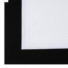 Набор листового фетра (мягкий) IDEAL 1мм 20х30см FLT-SA8 уп.10 листов цв.белый,черный
