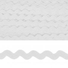 Тесьма декоративная Вьюнчик TBY.64312 шир.5мм цв.F101 белый уп.32,92м