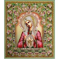 Набор для вышивания хрустальными бусинами ОБРАЗА В КАМЕНЬЯХ  7737 Богородица Помощница в родах (Храмовая икона)
