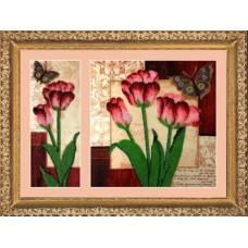 Набор для вышивания BUTTERFLY  255 Тюльпаны 26х10/26х26 см