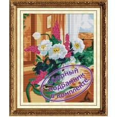 Набор Колор Кит  мозаичная картина с подрамником КК.MO022 Нежный букет  40х50