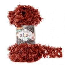 Пряжа для вязания Ализе Puffy Fur (100% полиэстер) 5х100г/6м цв.6118