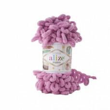 Пряжа для вязания Ализе Puffy (100% микрополиэстер) 5х100г/9.5м цв.098 сухая роза