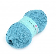 Пряжа для вязания ПЕХ Мультицветная (65% полиэстер, 35% хлопок) 5х50г/180м цв.752 дымчато-бирюзовый