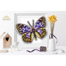 Пластиковая перфорированная основа БЛАГОВЕСТ БС-045 3-D Бабочка. Papilio Rumanzovia 10х12 см