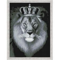 Алмазная вышивка Чёрно-белый лев QR200004 50х65 тм Цветной