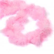 Боа - пух FBY-18-12 уп.15±3г цв.розовый уп.2м