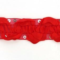 Тесьма с пайетками TBY TH463-1 шир.25мм цв.026 красный уп.18,28м