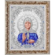Рисунок на ткани бисером БЛАГОВЕСТ ЖС-3014 Матрона Московская в жемчуге