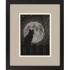 Набор для вышивания DIMENSIONS DMS-70-65212 Лунный черный кот 12,7 x 17,8 см