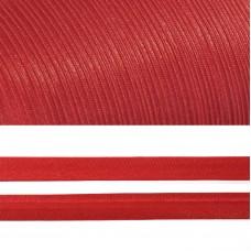 Косая бейка TBY атласная шир.15мм цв.F162 красный уп.132 м