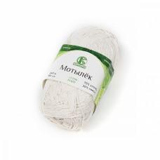 Пряжа для вязания КАМТ Мотылек (70% хлопок, 30% лавсан) 5х50г/140м цв.205 белый
