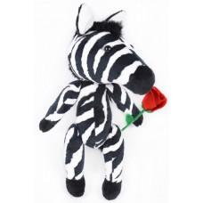 Набор для изготовления игрушек из меха MM-014 Африканская зебра 25 см