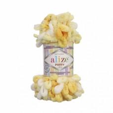Пряжа для вязания Ализе Puffy color (100% микрополиэстер) 5х100г/9м цв.5921