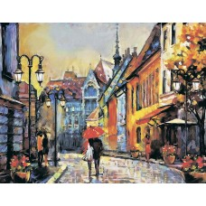 Алмазная вышивка Город Европы LG248 40х50 тм Цветной