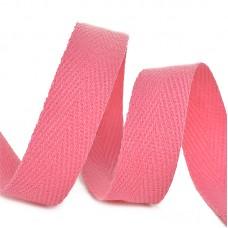 Тесьма киперная 10 мм хлопок 2,5г/см TBY.CT10137 цв.F137 розовый уп.50м