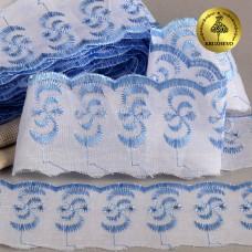 Шитье ТСВ-20S3 (2195) шир.5см цв.101/182 голубой 100% п/э