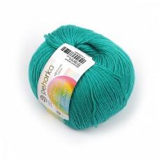 Пряжа для вязания ПЕХ Детский каприз (50% мериносовая шерсть, 50% фибра) 10х50г/225м цв.335 изумруд