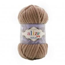 Пряжа для вязания Ализе Velluto (100% микрополиэстер) 5х100г/68м цв.329 табачно - коричневый