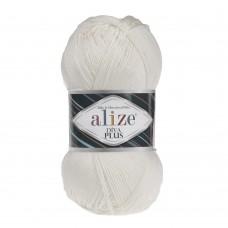 Пряжа для вязания Ализе Diva Plus (100% микрофибра акрил) 5х100г/220м цв.062 св.молочный