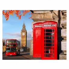 Картина по номерам с цветной схемой на холсте Molly KK0640 Улица Лондона (18 цветов) 30х40 см