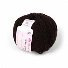 Пряжа для вязания ПЕХ Рельефная (43% меринос, 43% ПАН, 14% ПА) 5х50г/135м цв.017 шоколад