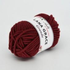 Пряжа для вязания ТРО LANA GRACE Grande (25% мериносовая шерсть, 75% акрил супер софт) 5х100г/65м цв.0025 вишня