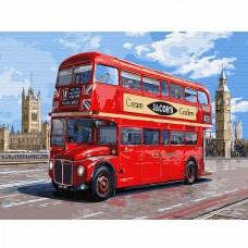 Картина по номерам с цветной схемой на холсте Molly KK0650 Автобус Лондона (21 цвет) 30х40 см