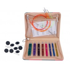 47409 Knit Pro Набор Deluxe Set укороченных съемных спиц Zing (3.50/ 4.00/ 4.50/ 5.00/ 5.50/ 6.00/ 7.00/8.00 мм)алюминий, 8 видов спиц