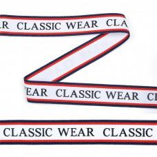 Тесьма-стропа TBY декоративная Classic wear TPP03205 шир.20мм цв. белый уп.45,7м