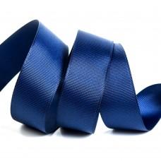 Лента Ideal репсовая в рубчик шир.25мм цв. 370 т.синий уп.27,42м
