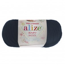 Пряжа для вязания Ализе Baby Wool (20% бамбук, 40% шерсть, 40% акрил) 10х50г/175м цв.058 т.синий