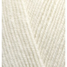 Пряжа для вязания Ализе LanaGold Fine (49% шерсть, 51% акрил) 5х100г/390м цв.001 кремовый