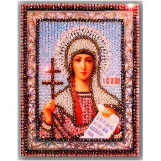 Набор для вышивания хрустальными бусинами ОБРАЗА В КАМЕНЬЯХ  7706 Святая Татьяна 16,4х21,5 см