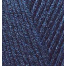Пряжа для вязания Ализе LanaGold Fine (49% шерсть, 51% акрил) 5х100г/390м цв.058 т.синий