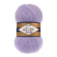 Пряжа для вязания Ализе Angora Real 40 (40% шерсть, 60% акрил) 5х100г/480м цв.146 лиловый