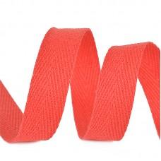 Тесьма киперная 10 мм хлопок 2,5г/см TBY.CT10162 цв.F162 красный уп.50м