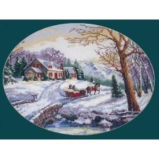 Набор для вышивания Classic Design 4379 Зимняя сказка 38х26 см