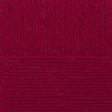 Пряжа для вязания ПЕХ Популярная (50% импортная шерсть, 45% акрил, 5% акрил высокообъёмный) 10х100г/133м цв.091 кармин