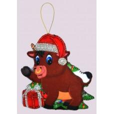 Набор для вышивания декоративных игрушек BUTTERFLY  F146 Бычок 11х10 см