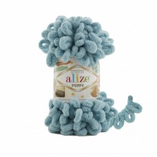 Пряжа для вязания Ализе Puffy (100% микрополиэстер) 5х100г/9.5м цв.414 лазурный
