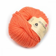 Пряжа для вязания ПЕХ Детский каприз тёплый (50% мериносовая шерсть, 50% фибра) 10х50г/125м цв.1125 розовый коралл