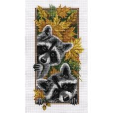 Набор для вышивания PANNA Ж-1778 Любопытные еноты 15х27 см