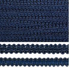Тесьма TBY Шанель плетеная шир.12мм 0384-0016 цв.F330 т.синий уп.18,28м