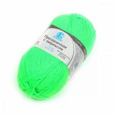 Пряжа для вязания КАМТ Праздничная (48% кашмилон, 48% акрил, 4% метанит) 10х50г/160м цв.027 лимон незр