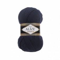 Пряжа для вязания Ализе LanaGold (49% шерсть, 51% акрил) 5х100г/240м цв.058 т.синий