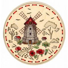 Набор для вышивания Щепка О-021 Сельская мельница 18х18 см